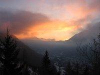 Sonnenuntergang über Chamonix