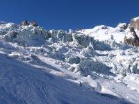 Gletscherbruch auf Höhe des Salle à Manger