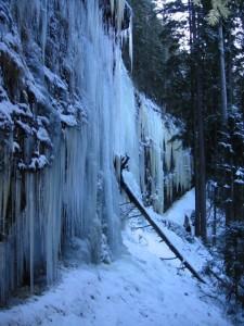 Eis an der alten Tambacher Talsperre (01/2009)