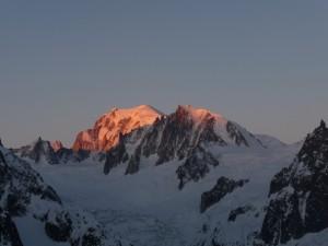 Entschädigung - Mt.-Blanc im Morgenlicht